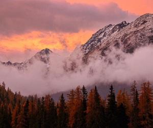 autumn, beautiful, and mountains image