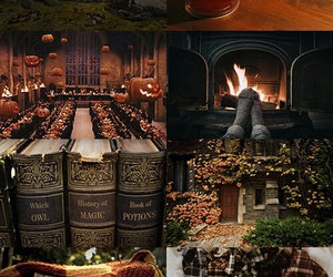 harry potter, autumn, and book image