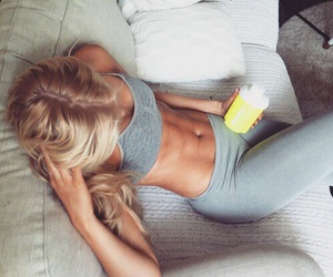 fit, fitness, and blonde image