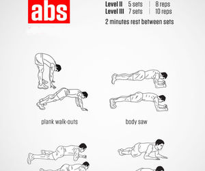 abs, exercise, and workout image