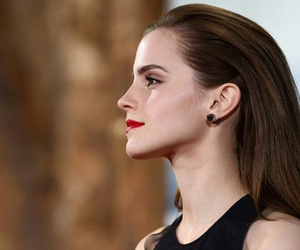emma watson and red lips image