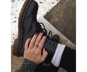 black, boots, and nails image