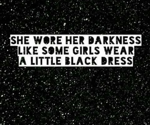 black, Darkness, and dress image