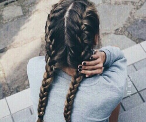 braids, grey, and fall image