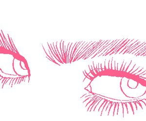eyes, pink, and tumblr image
