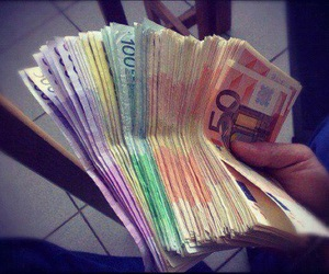 money, euro, and rich image