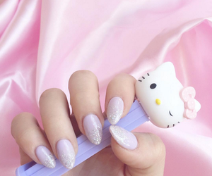 nails, pastel, and purple image