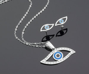 etsy, nazar necklace, and olizz image