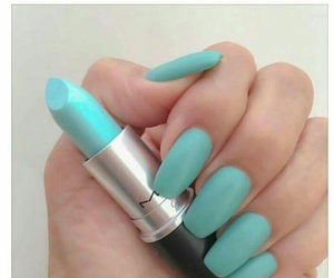 nails, lipstick, and mac image