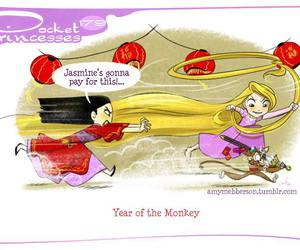 mulan, rapunzel, and pocket princesses image