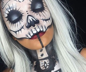 Halloween, halloween makeup, and halloween costume image