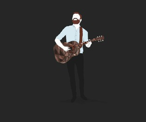 drawing, guitar, and mike image