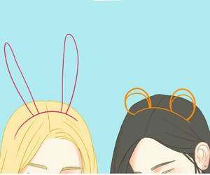 background, bear, and bunny image