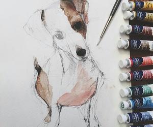 artsy, dog, and doggie image