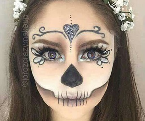 Halloween, makeup, and make-up image