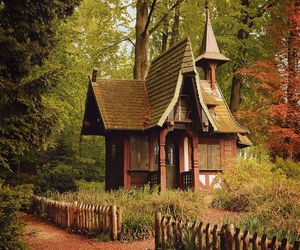 cottage, fairytale, and enchanted forest image