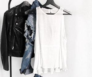 closet, leather jacket, and fashion image