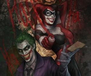 joker, comic, and harley quinn image