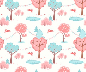 background, bunny, and forest image