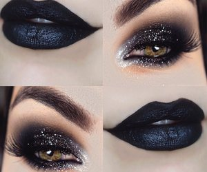 beauty, eyes, and eye shadow image