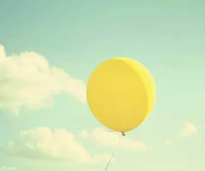 yellow, sky, and balloons image