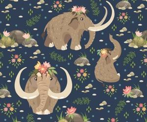 mammoth, pattern, and animal image