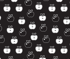 apple, background, and black and white image