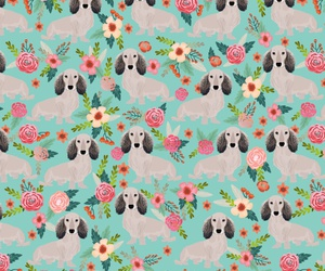background, dog, and pattern image