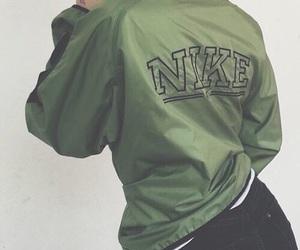 nike, green, and jacket image