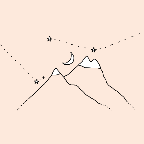 pink, mountais, and aesthetic image