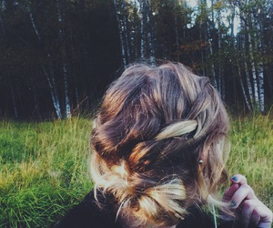 braids, fall, and hairstyle image