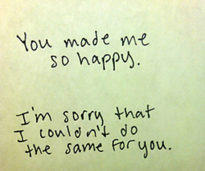 happy, sorry, and love image