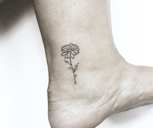 flower, tattoo, and tiny image