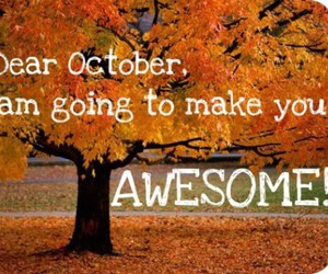 october, fall, and awesome image