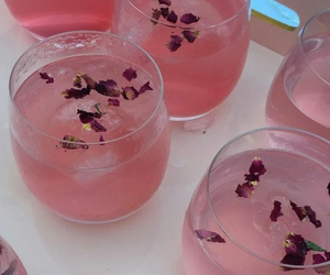 drink, limonade, and pink image