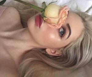 eyes, girls, and rose image