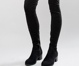 boots, black, and knee high image