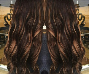 hair, brown, and highlights image