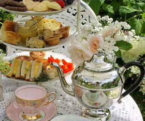 cupcakes, tea, and vintage image