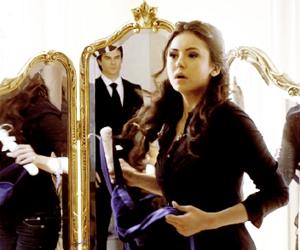 ian somerhalder, Nina Dobrev, and Vampire Diaries image