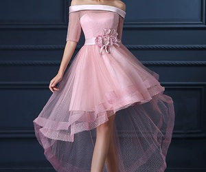 dress, elegant, and pink image
