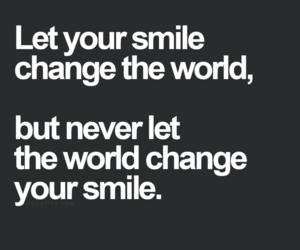 smile, change, and world image