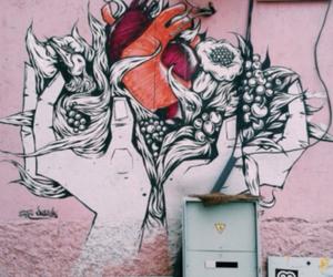 heart, graffiti, and grunge image