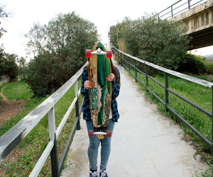 green, young, and longboard image