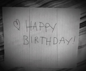 hand written, happy birthday, and Letter image