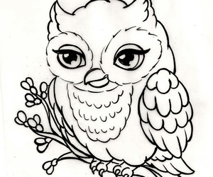 dibujo, owl, and cute image