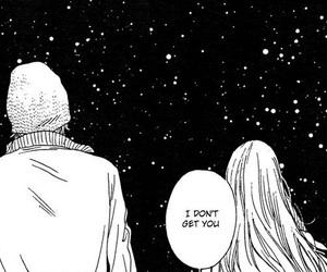 manga, stars, and black and white image