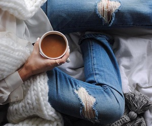 beautiful, coffee, and outfit image