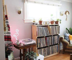 flamingo, phonograph, and up image