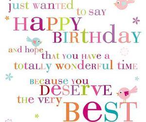 Best, happy birthday, and deserve image